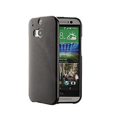 Coque Silicone Gel Souple Couleur Unie pour HTC One M8 Noir