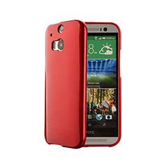 Coque Silicone Gel Souple Couleur Unie pour HTC One M8 Rouge