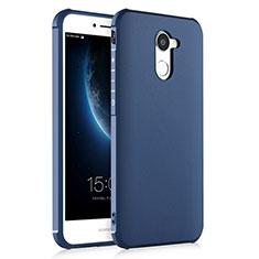 Coque Silicone Gel Souple Couleur Unie pour Huawei Enjoy 7 Plus Bleu