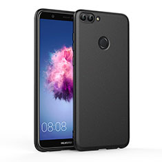 Coque Silicone Gel Souple Couleur Unie pour Huawei Enjoy 7S Noir