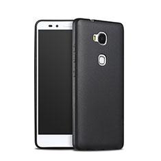 Coque Silicone Gel Souple Couleur Unie pour Huawei Honor 5X Noir