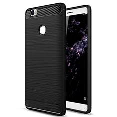 Coque Silicone Gel Souple Couleur Unie pour Huawei Honor Note 8 Noir