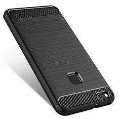 Coque Silicone Gel Souple Couleur Unie pour Huawei P10 Lite Noir