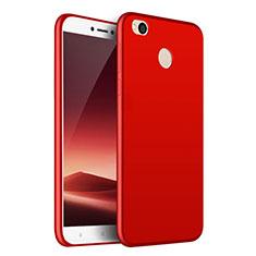 Coque Silicone Gel Souple Couleur Unie pour Huawei P8 Lite (2017) Rouge