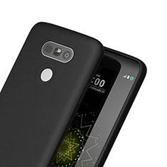 Coque Silicone Gel Souple Couleur Unie pour LG G5 Noir
