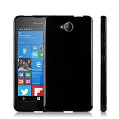 Coque Silicone Gel Souple Couleur Unie pour Microsoft Lumia 650 Noir