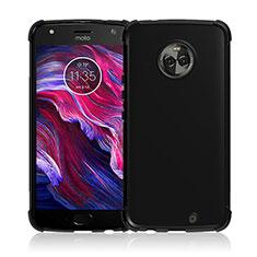 Coque Silicone Gel Souple Couleur Unie pour Motorola Moto X4 Noir