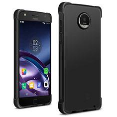 Coque Silicone Gel Souple Couleur Unie pour Motorola Moto Z2 Play Noir