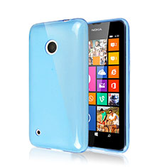 Coque Silicone Gel Souple Couleur Unie pour Nokia Lumia 530 Bleu Ciel