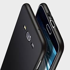 Coque Silicone Gel Souple Couleur Unie pour Samsung Galaxy A7 SM-A700 Noir