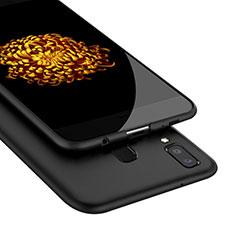 Coque Silicone Gel Souple Couleur Unie pour Samsung Galaxy A8 Star Noir