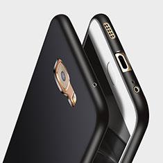Coque Silicone Gel Souple Couleur Unie pour Samsung Galaxy C7 Pro C7010 Noir