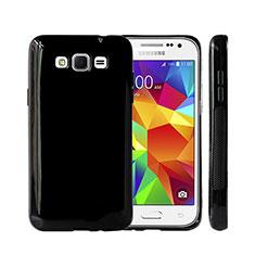 Coque Silicone Gel Souple Couleur Unie pour Samsung Galaxy Grand 3 G7200 Noir