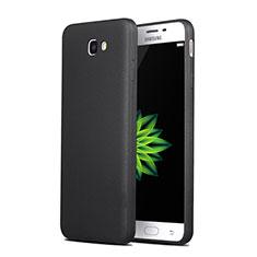 Coque Silicone Gel Souple Couleur Unie pour Samsung Galaxy J7 Prime Noir