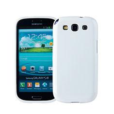 Coque Silicone Gel Souple Couleur Unie pour Samsung Galaxy S3 i9300 Blanc