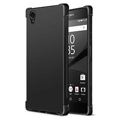 Coque Silicone Gel Souple Couleur Unie pour Sony Xperia XA1 Plus Noir