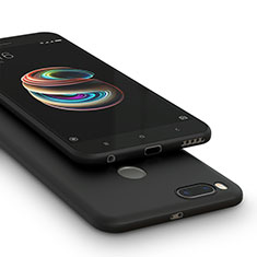 Coque Silicone Gel Souple Couleur Unie pour Xiaomi Mi 5X Noir