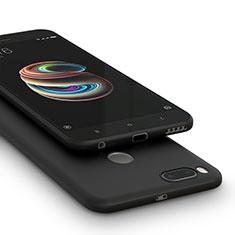 Coque Silicone Gel Souple Couleur Unie pour Xiaomi Mi A1 Noir