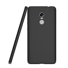 Coque Silicone Gel Souple Couleur Unie pour Xiaomi Redmi Note 4X High Edition Noir