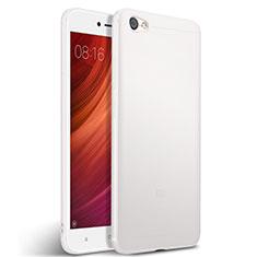 Coque Silicone Gel Souple Couleur Unie pour Xiaomi Redmi Note 5A Standard Edition Blanc