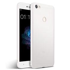 Coque Silicone Gel Souple Couleur Unie pour Xiaomi Redmi Y1 Blanc