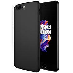 Coque Silicone Gel Souple Couleur Unie S01 pour OnePlus 5 Noir
