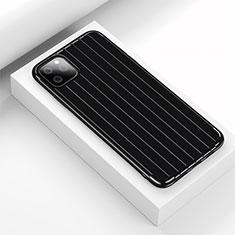 Coque Silicone Housse Etui Gel Line C01 pour Apple iPhone 11 Pro Max Noir