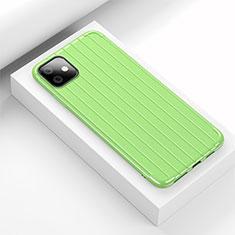 Coque Silicone Housse Etui Gel Line C01 pour Apple iPhone 11 Vert