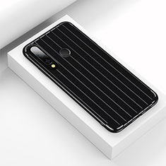 Coque Silicone Housse Etui Gel Line C01 pour Huawei Honor 20 Lite Noir