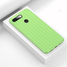 Coque Silicone Housse Etui Gel Line C01 pour Huawei Honor View 20 Vert