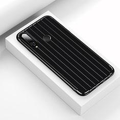 Coque Silicone Housse Etui Gel Line C01 pour Huawei P30 Lite Noir