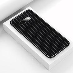 Coque Silicone Housse Etui Gel Line C01 pour Samsung Galaxy S10e Noir
