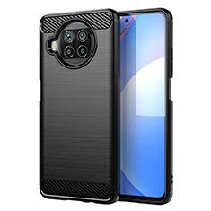 Coque Silicone Housse Etui Gel Line C01 pour Xiaomi Mi 10T Lite 5G Noir