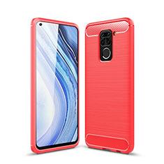Coque Silicone Housse Etui Gel Line C01 pour Xiaomi Redmi 10X 4G Rouge