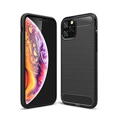 Coque Silicone Housse Etui Gel Line C02 pour Apple iPhone 11 Pro Noir