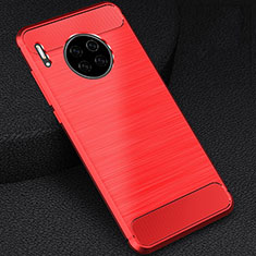 Coque Silicone Housse Etui Gel Line C02 pour Huawei Mate 30E Pro 5G Rouge