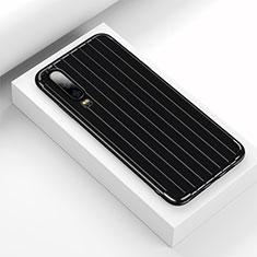 Coque Silicone Housse Etui Gel Line C02 pour Huawei P30 Noir