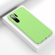 Coque Silicone Housse Etui Gel Line C02 pour Huawei P30 Pro Vert
