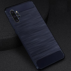 Coque Silicone Housse Etui Gel Line C02 pour Samsung Galaxy Note 10 Plus 5G Bleu