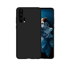 Coque Silicone Housse Etui Gel Line C07 pour Huawei Honor 20 Pro Noir