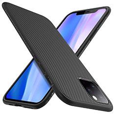 Coque Silicone Housse Etui Gel Line pour Apple iPhone 11 Pro Noir