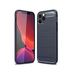 Coque Silicone Housse Etui Gel Line pour Apple iPhone 12 Max Bleu