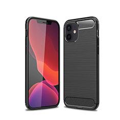Coque Silicone Housse Etui Gel Line pour Apple iPhone 12 Noir