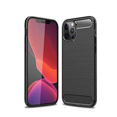 Coque Silicone Housse Etui Gel Line pour Apple iPhone 12 Pro Max Noir