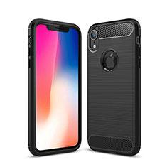 Coque Silicone Housse Etui Gel Line pour Apple iPhone XR Noir