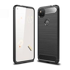 Coque Silicone Housse Etui Gel Line pour Google Pixel 4a Noir