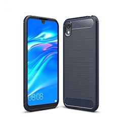 Coque Silicone Housse Etui Gel Line pour Huawei Enjoy 8S Bleu