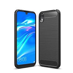 Coque Silicone Housse Etui Gel Line pour Huawei Enjoy 8S Noir