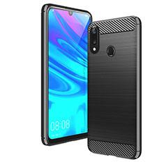 Coque Silicone Housse Etui Gel Line pour Huawei Enjoy 9 Noir