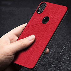 Coque Silicone Housse Etui Gel Line pour Huawei Honor 10 Lite Rouge